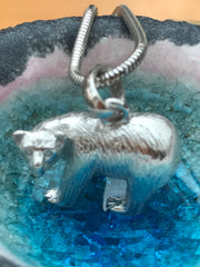 Polar bear pendant mine sterling silver polar bear pendant polar bear pendant aloadofball Images