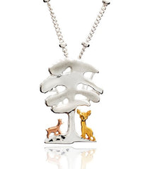 Roe Deer Under an Elm Tree Pendant