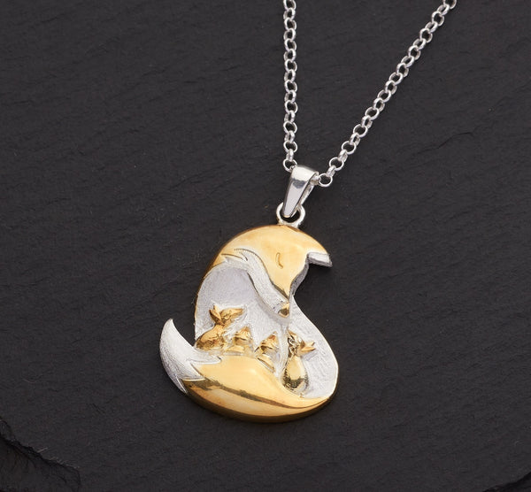 Fox and Cubs Pendant