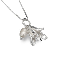 Bluebell With Freshwater Pearl Pendant