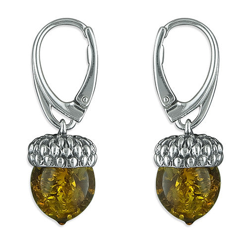 Amber Acorn Earrings