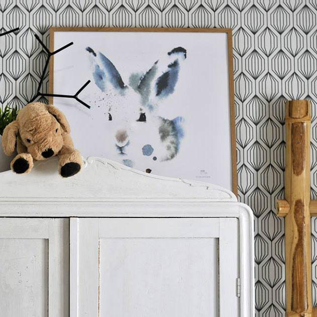 Ester Visual White Hare poster made in Finland
