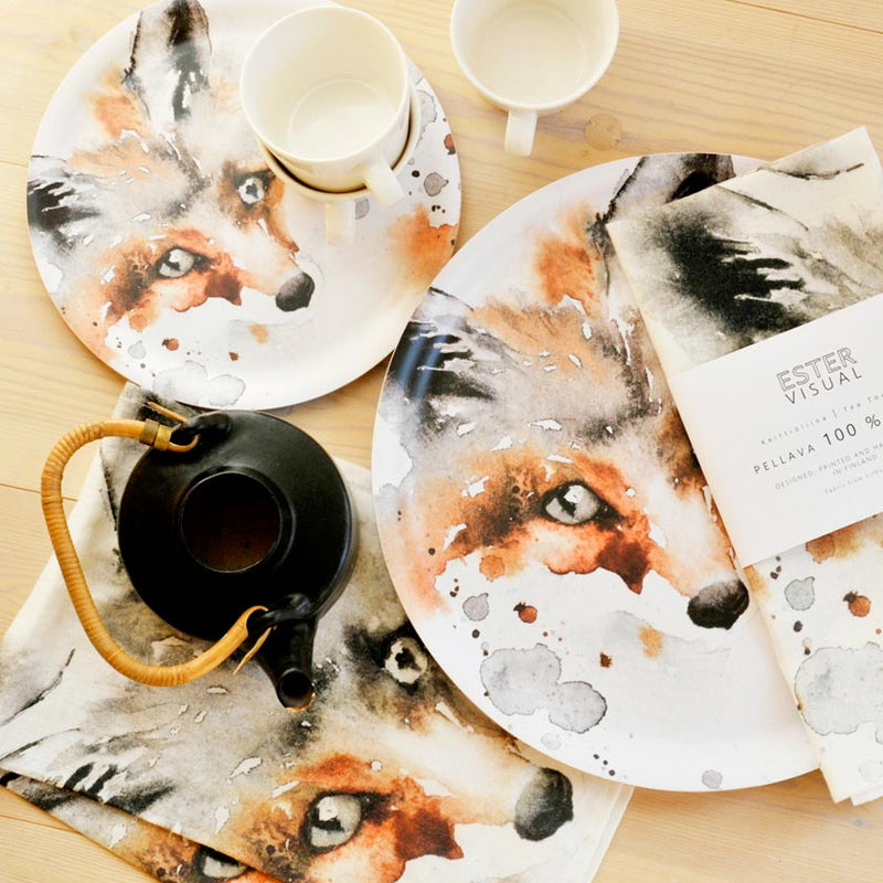 Ester Visual wooden Fox tray finnish design