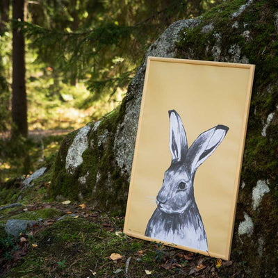 Hare poster by Miiko design Finland, Nordic nature