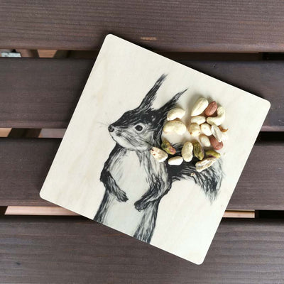 Miiko design Squirrel trivet birch plywood