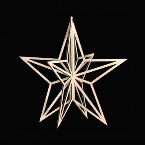 Finnish birch star decoration valona design ornamentation
