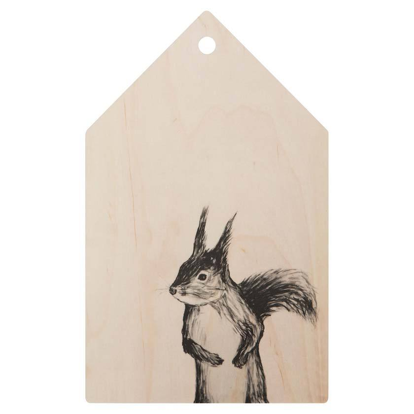 Miiko design Squirrel chopping board birch plywood