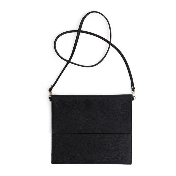 Miiko design black Maxi Jemma elk leather bag
