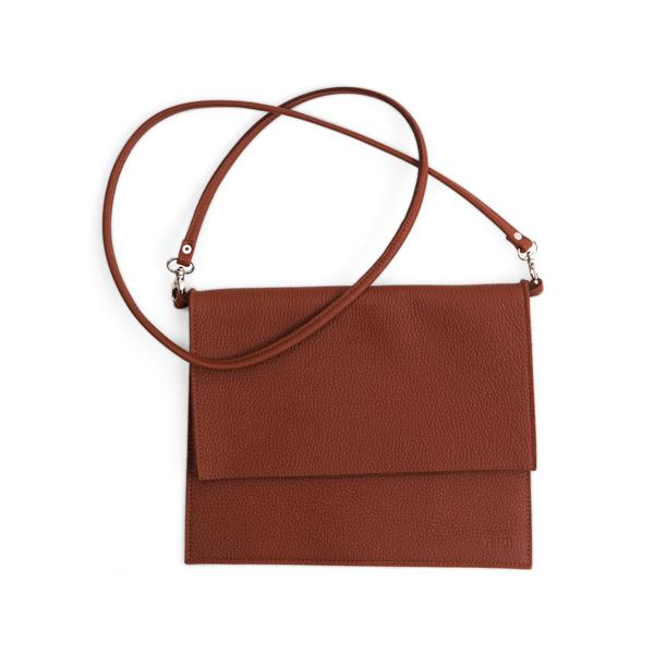 Miiko design brown Maxi Jemma elk leather bag