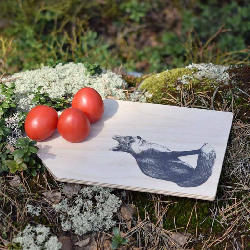 Miiko design Fox cutting board birch plywood