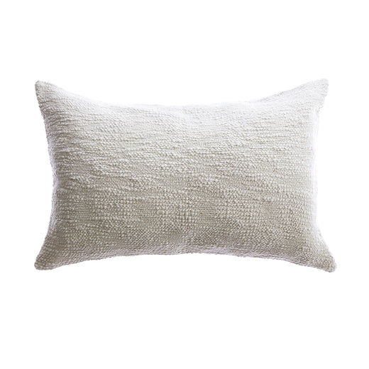 Textured Woven Cotton Lumbar Pillow