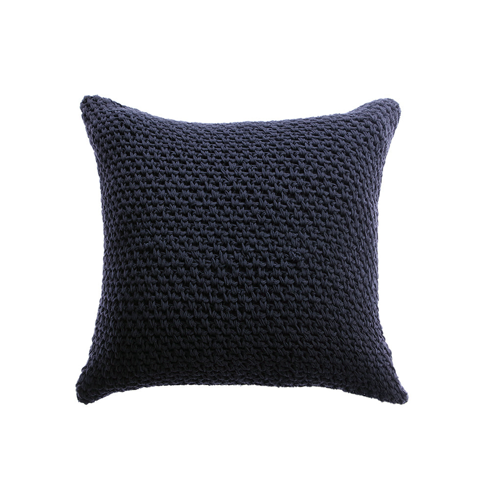 Roma Cotton Pillow - Black