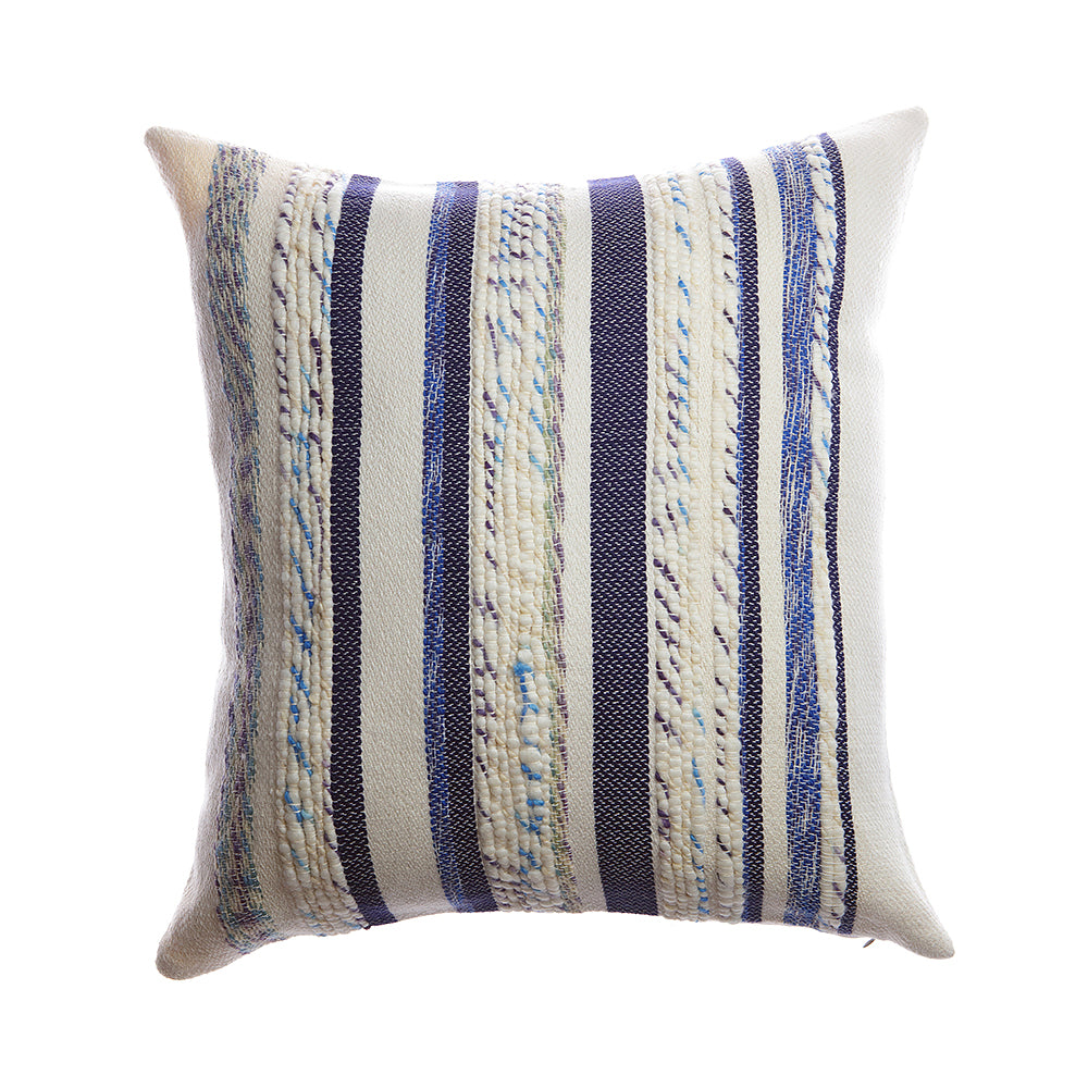 Anette Square Wool Pillow - Blue