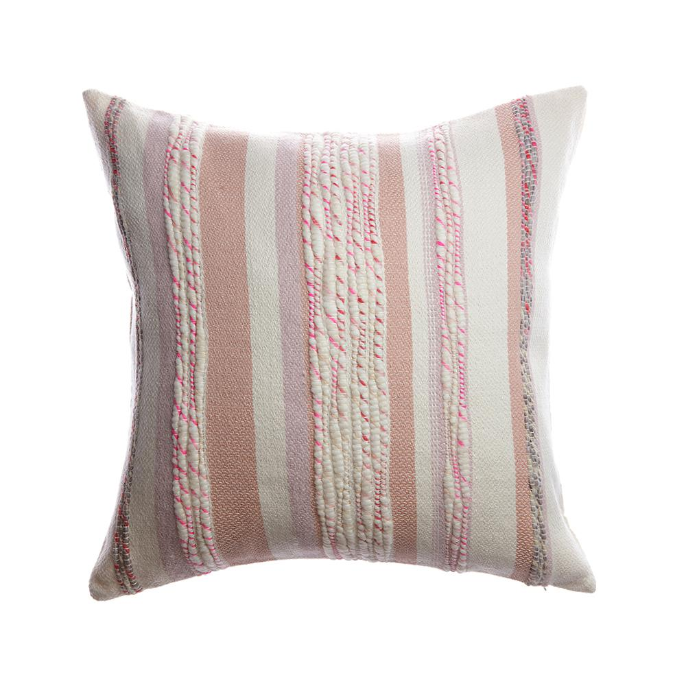 Anette Square Wool Pillow - Pinky