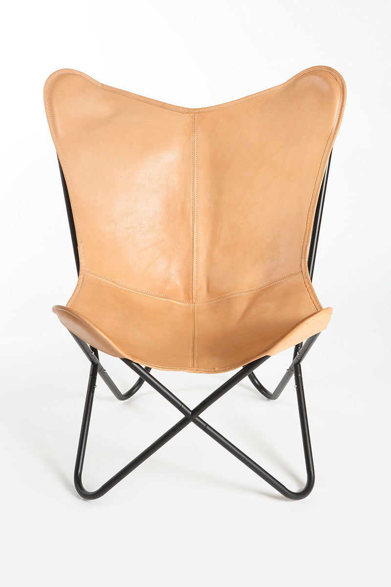 BIRCH - Leather Butterfly Chair