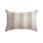 Beige & Ivory Striped Silk Square Pillow