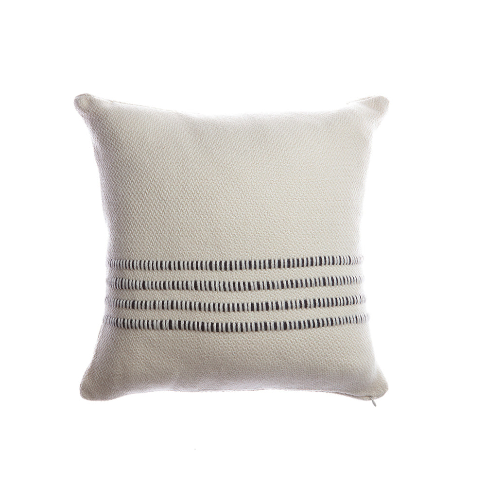 Black Striped Square Pillow