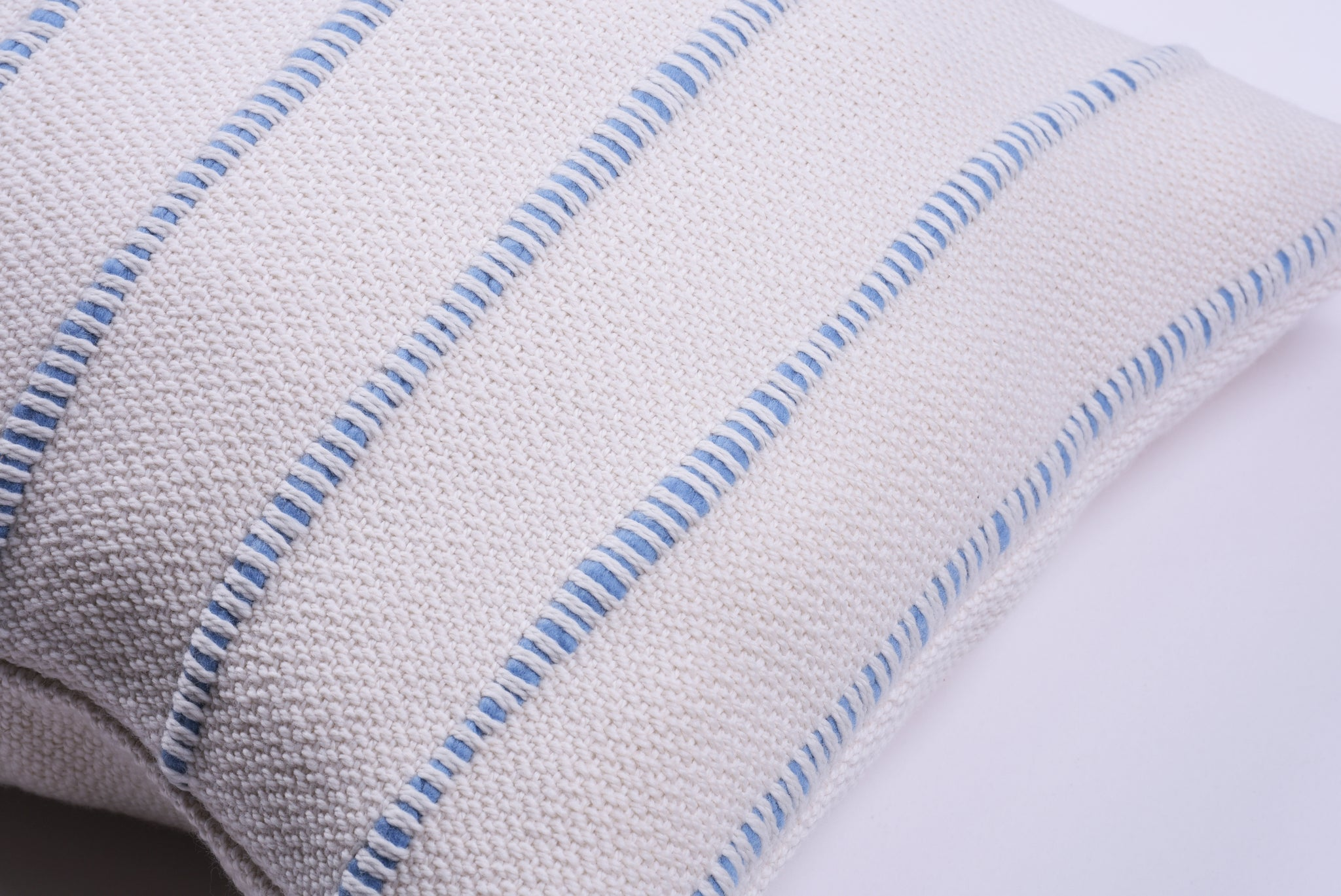 Blue Multi Striped Lumbar Pillow