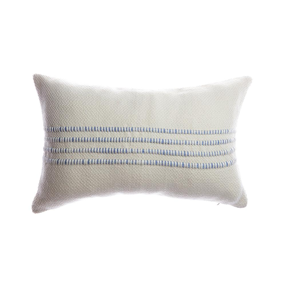 Blue Striped Lumbar Pillow