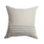 Blue Striped Square Pillow
