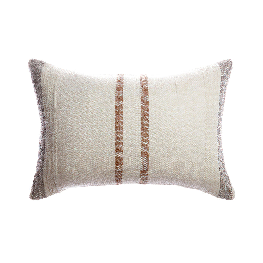 Border Brown Stripes Lumbar Pillow