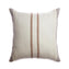 Border Grey Stripes Square Pillow