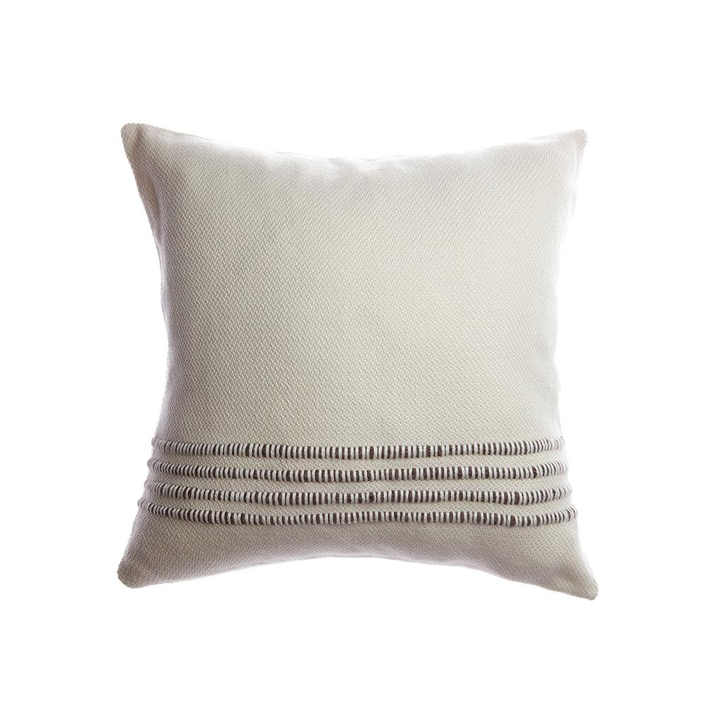 Brown Striped Square Pillow