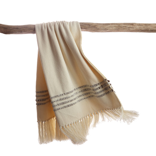 Brown Striped Decorative Throw Blanket