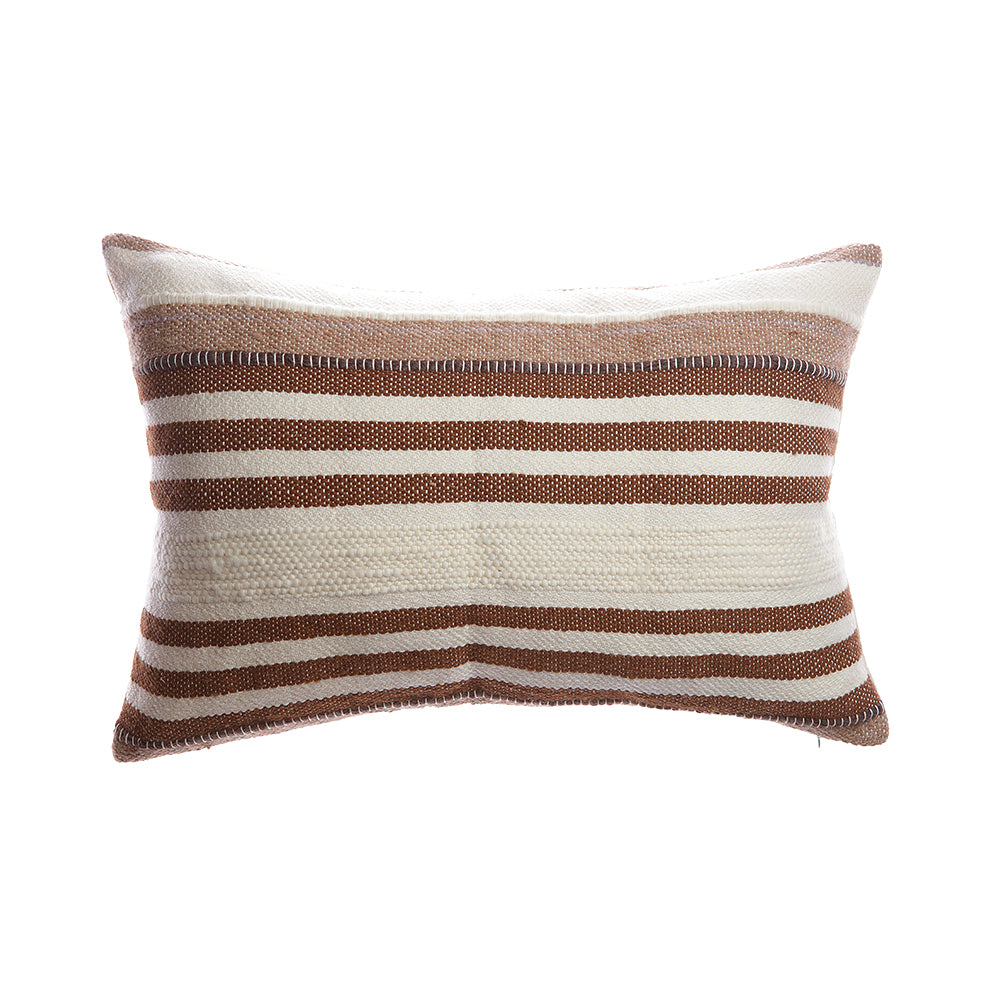 Brownie Horizontal Stripes Lumbar Pillow