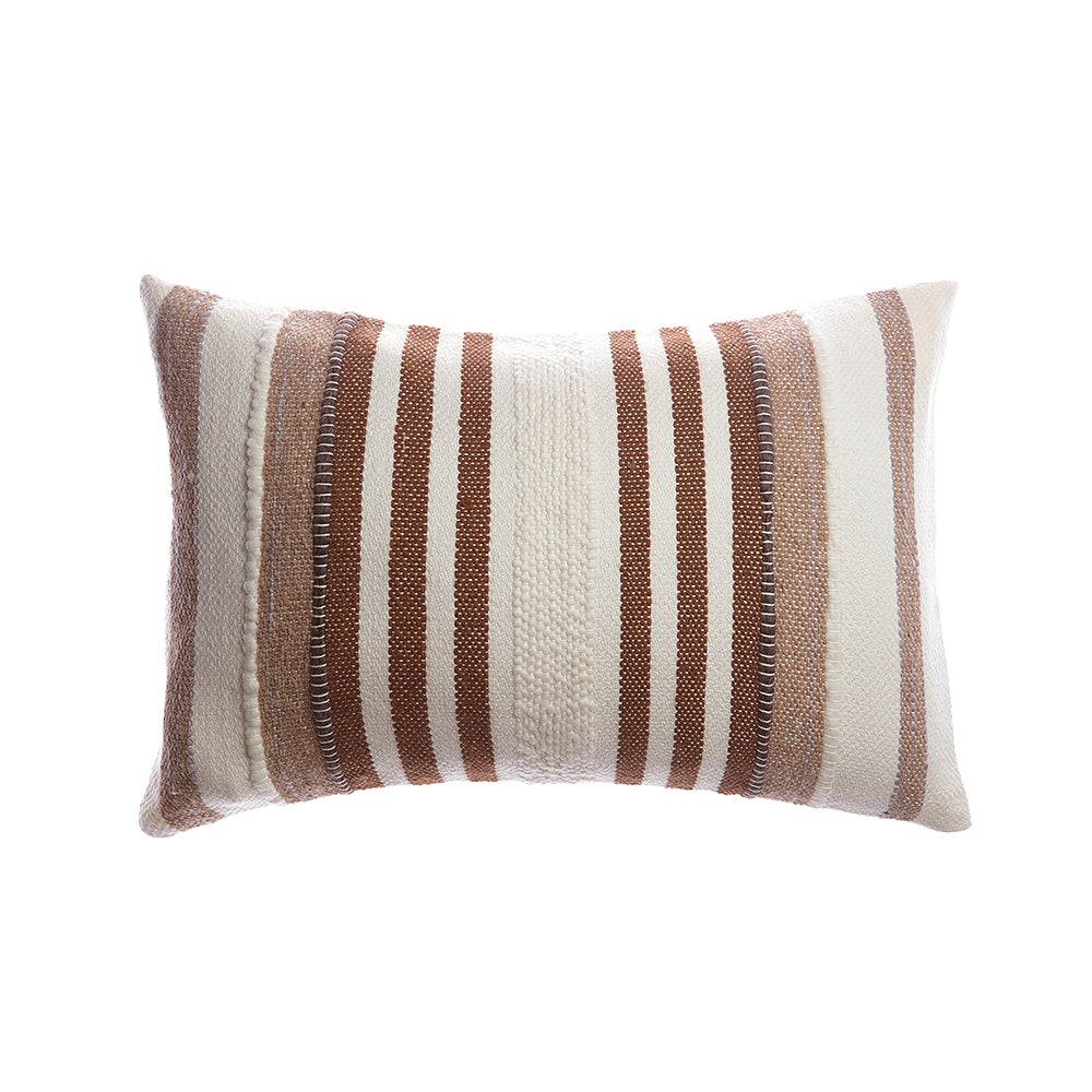 Brownie Llama Stripes Square Pillow