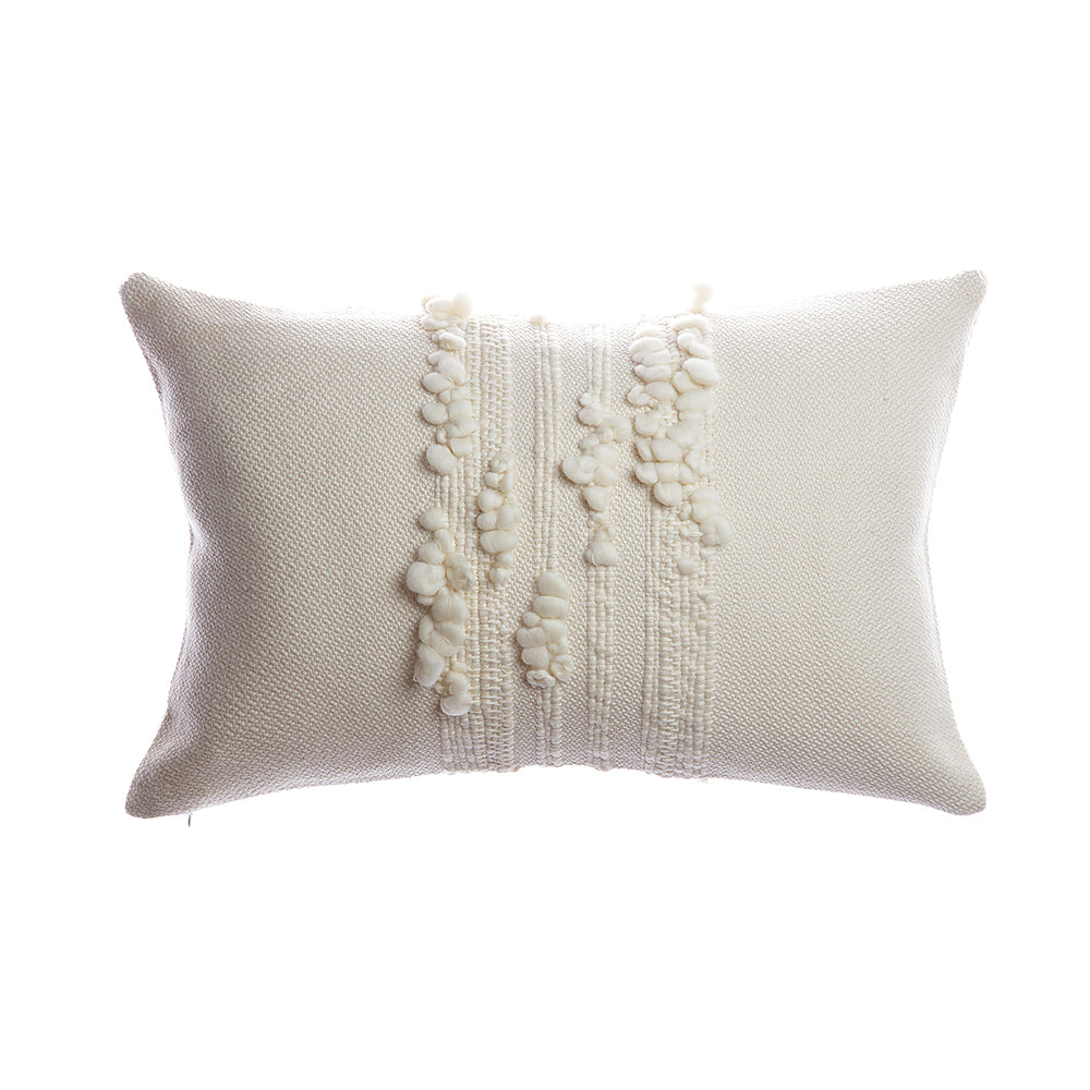 Bubbles Natural Ivory Square Pillow