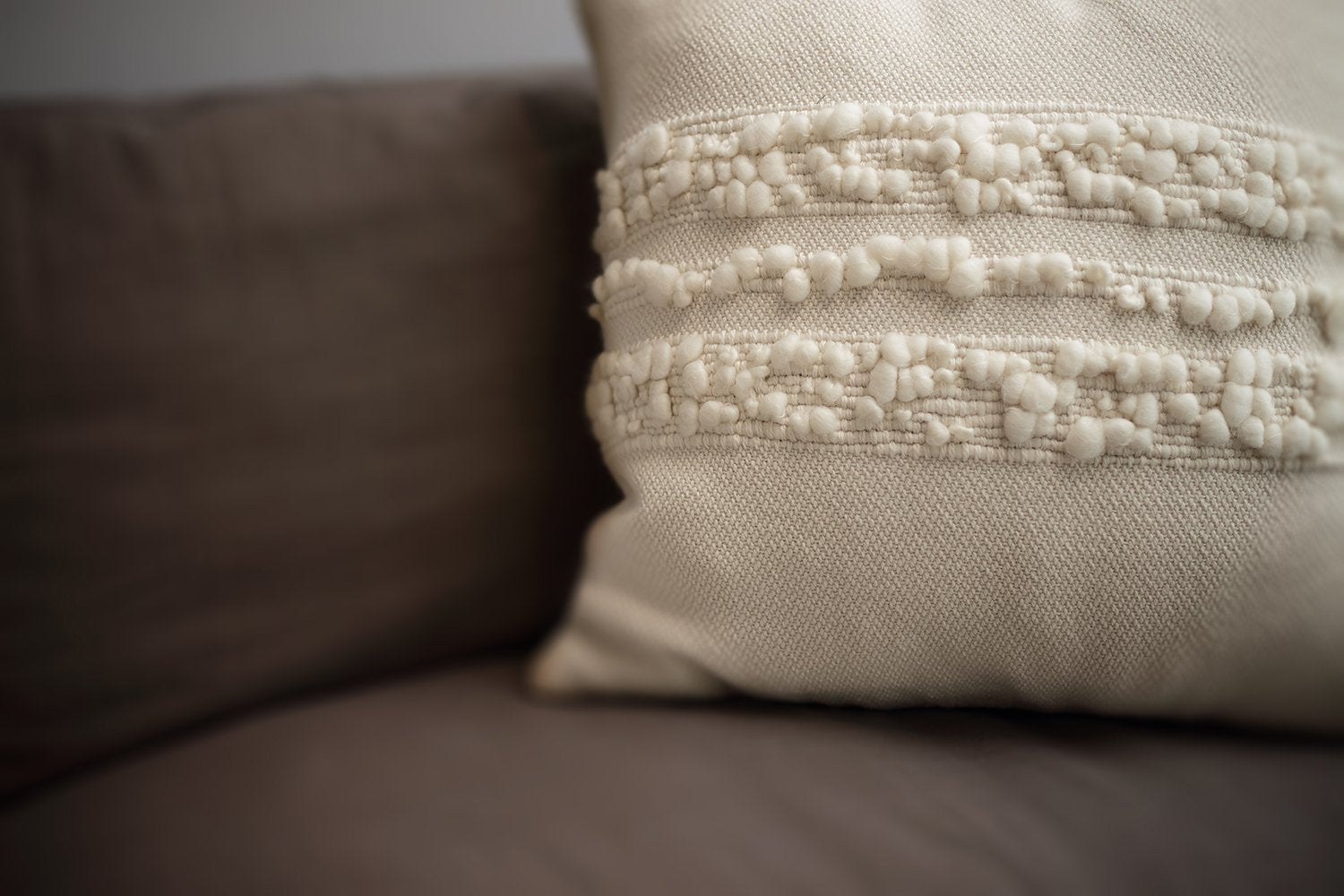 Bubbles Natural Ivory Lumbar Pillow