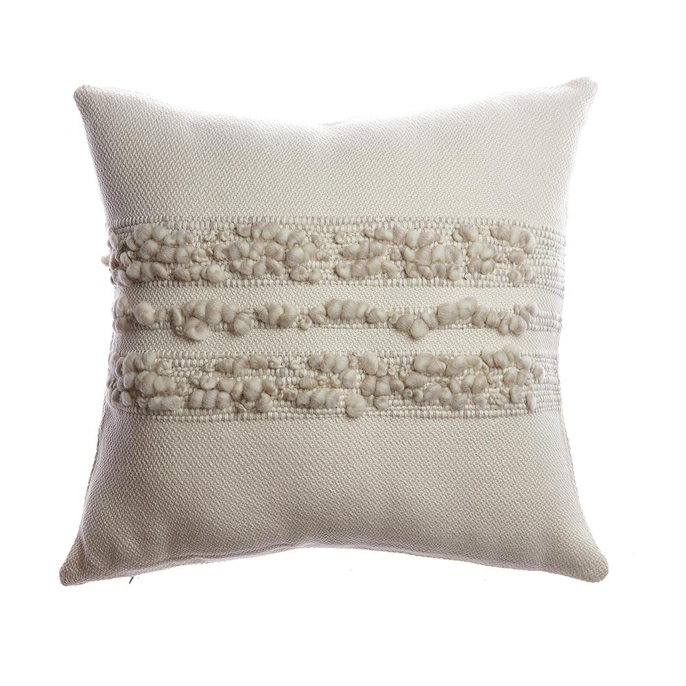 Bubbles Grey Melange Square Pillow