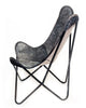 CHARCOAL - Cowhide Butterfly Chair