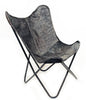 CHARCOAL - Cowhide Butterfly Chair - Homelosophy