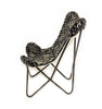 AMANDA CHARCOAL MELANGE - Shearling Butterfly Chair - HOMELOSOPHY 1