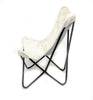 CREAM - Hair on Hide Butterfly Chair - HOMELOSOPHY