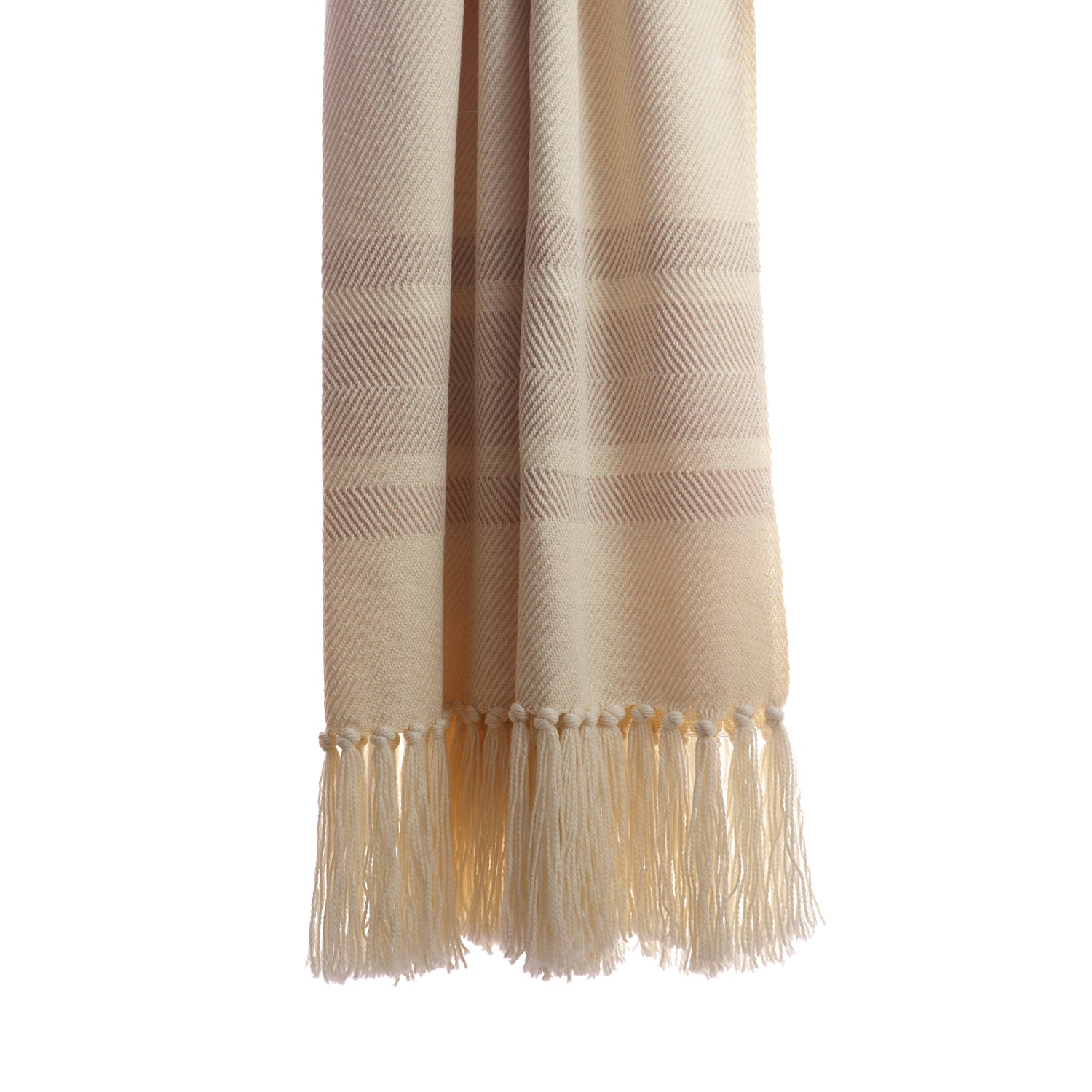 Camel Sarga Merino Throw Blanket