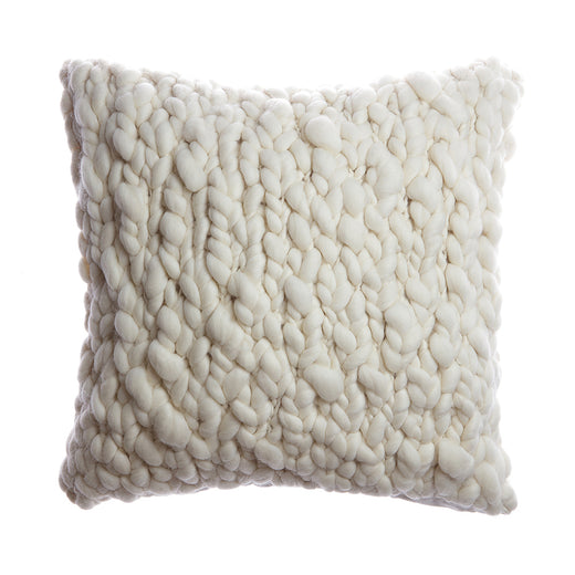 Clouds Chunky Wool Throw Pillow