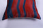 Herringbone Red Blue Hide Pillow