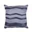 Herringbone Silver Slate Hide Pillow
