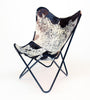 DARK SALT & PEPPER - Leather Butterfly Chair