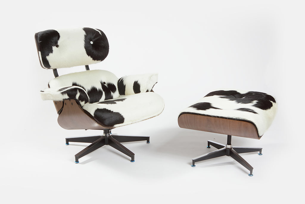 Eames Lounge Chair - Holstein Black & White - homelosophy