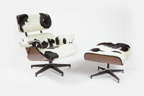 Charles Eames Lounge Chair - Holstein Black & White