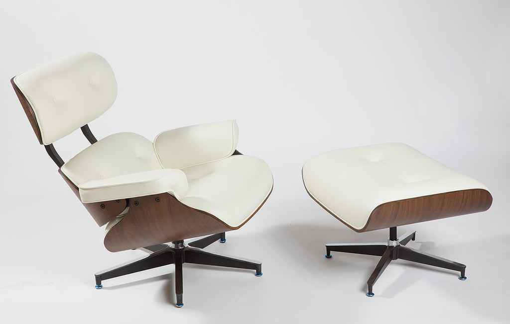 Eames Lounge Chair   Milk Natural Leather   Homelosophy
