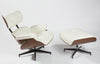Eames Lounge Chair - Milk Natural Leather - homelosophy