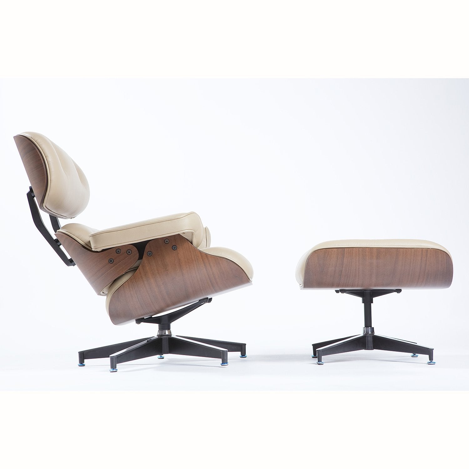 Charles Eames Lounge Chair - Sand Natural Leather