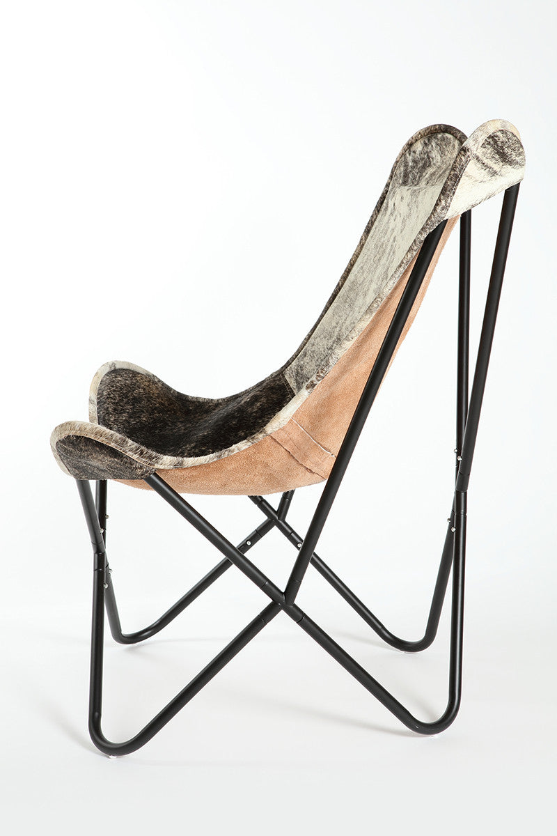 EXOTIC - Hair on Hide Butterfly Chair