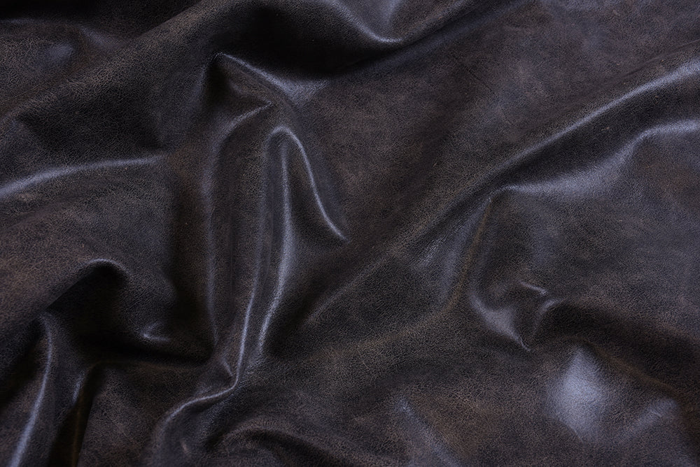 ANTIQUED - Ebony Leather