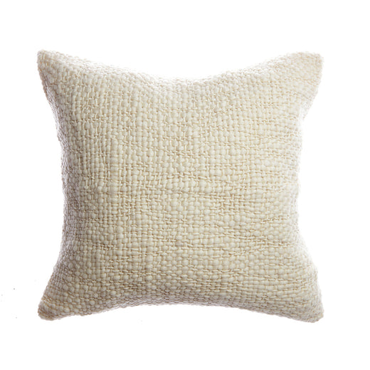 Flame Natural Wool Square Pillow